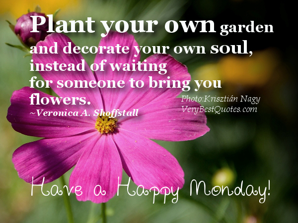 Plant Your Own Garden and Decorate Your Own Soul ~ Flowers Quote