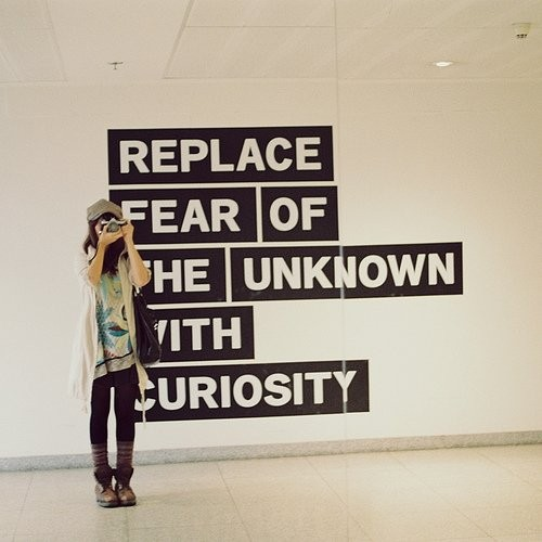 Replace Fear of the Unknown with Curiosity ~ Emotion Quote