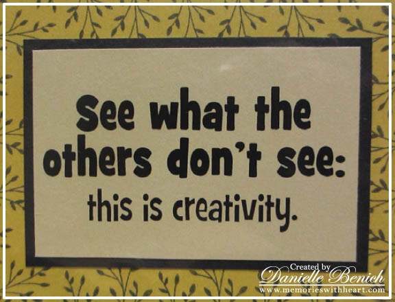 See What The Others Don T See This Is Creativity Art Quote