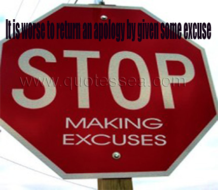 Stop Making Excuses ~ Astrology Quote