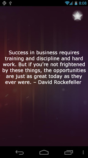 Success In Business requires training and discipline and hard work ~ Business Quote