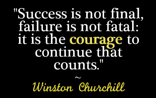 """""""Success Is Not Final,Failure Is Not Fatal,It Is the Courage to Continue that Counts"""" ~ Failure Quote"""