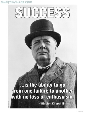 Success Is The Ability To Go From One Failure ~ Failure Quote