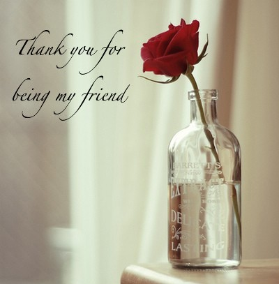 Thank You for being My Friend ~ Flower Quote