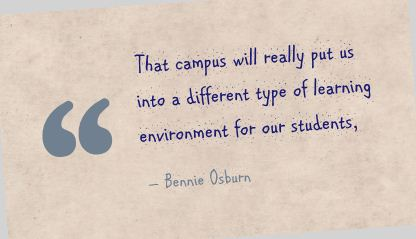 That Campus Will really Put us Into a Different type of learning environment for our students ~ Environment Quote