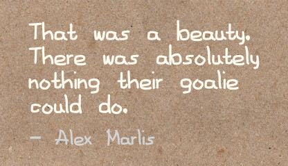 That was a beauty,There was absolutely nothing their goalie could do ~ Beauty Quote