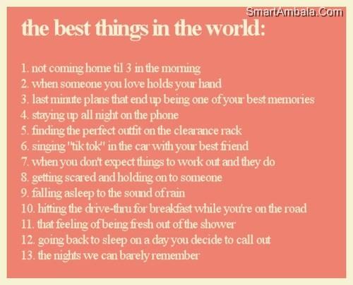 The Best Things in the World ~ Best Friend Quote