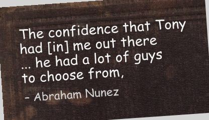The Confidence that Tony had (In) me out there ~ Confidence Quote