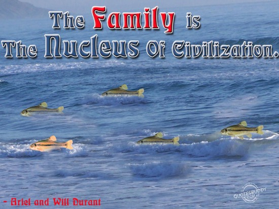The family is the nucleus of civilization ~ Family Quote