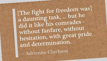 The Fight for Freedom was a daunting task ~ Freedom Quote