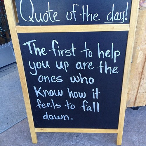 The First to help You Are the Ones Who Know how It Feels to fall down ~ Astrology Quote