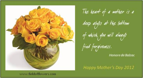 The Heart of a mother is a deep abyss of the bottom of which you will always find Forgiveness ~ Flowers Quote