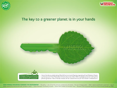 The Key to a greener planet is in your hands ~ Environment Quote