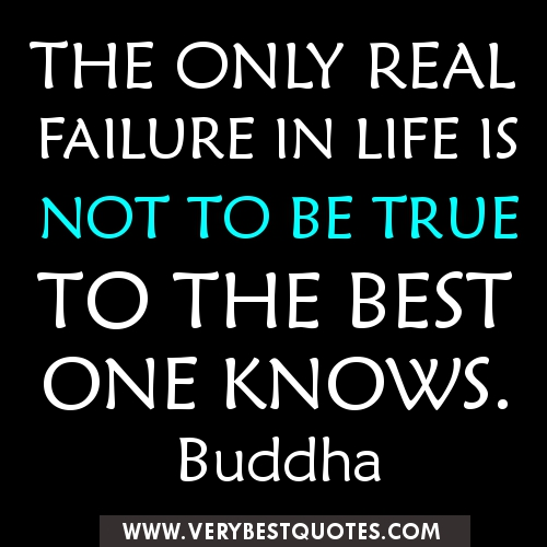 Inspirational Quotes About Failure: The Only Real Failure In Life Is The Real Failure To Try