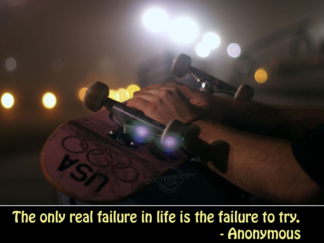 The only real failure in life is the Failure To Try  ~ Failure  Quote
