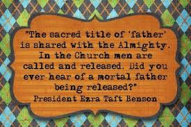 The Sacried Title of 'Father' Is shared with the Almighty ~ Father Quote