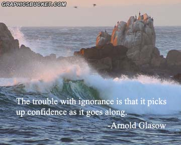 The Trouble with Ignorance Is that It Picks Up Confidence as It Goes Along ~ Confidence Quote