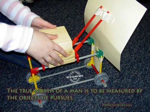The true worth of a man is to be measured by the objects he pursues ~ Business Quote