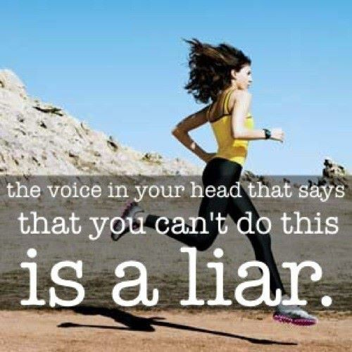 The Voice In Your Head That says that You can't Do this Is a Liar ~ Education Quote