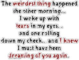 The weirdest thing happened the other morning ~ Flirt Quote