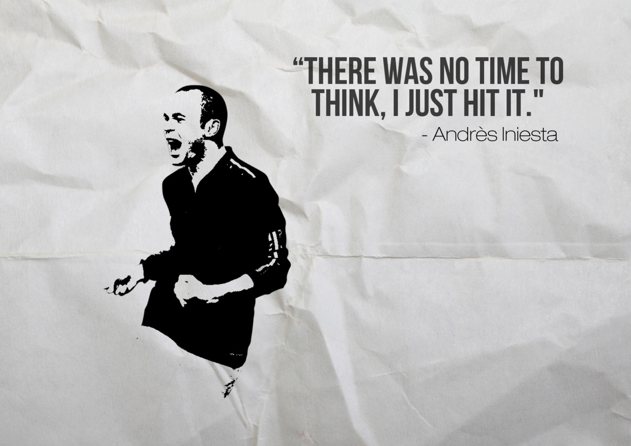 """There Was No Time To Think,I Just Hit It"" ~ Football Quote"