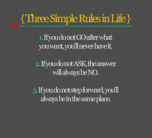Three simple rules in life ~ Astrology Quote