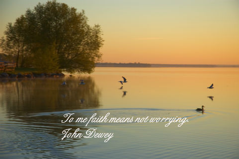 To Me Faith Means not Worring ~ Faith Quote