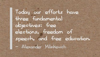 Today Our  Efforts Have three Fundamental Objectives ~ Education Quote