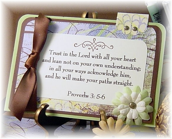 Trust In The Lord with all your Heart ~ Anniversary Quote
