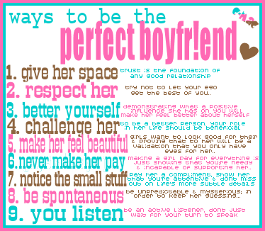 Ways to be the Perfect Boyfriend ~ Being In Love Quote ...