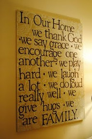In Our Home We Thank God ~ Family Quote