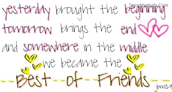 We Became the Best Of Friends ~ Best Friend Quote