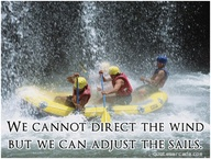 We Cannot Direct The Wind But We Can Adjust The Sails