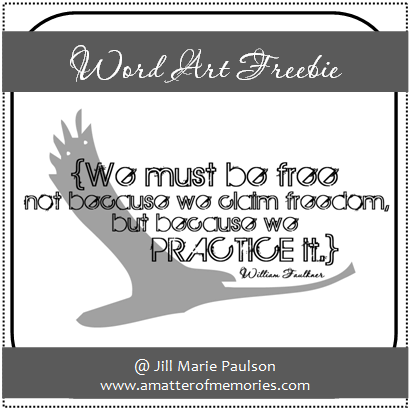 We Must be Free ~ Freedom Quote
