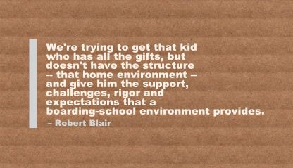 We're trying to get that kid who has all the gifts ~ Environment Quote