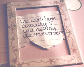 We won't have a society if we destroy the environment ~ Environment Quote