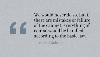 We Would Never do So,but if there are Mistakes or Failure of the Cabinet ~ Failure Quote