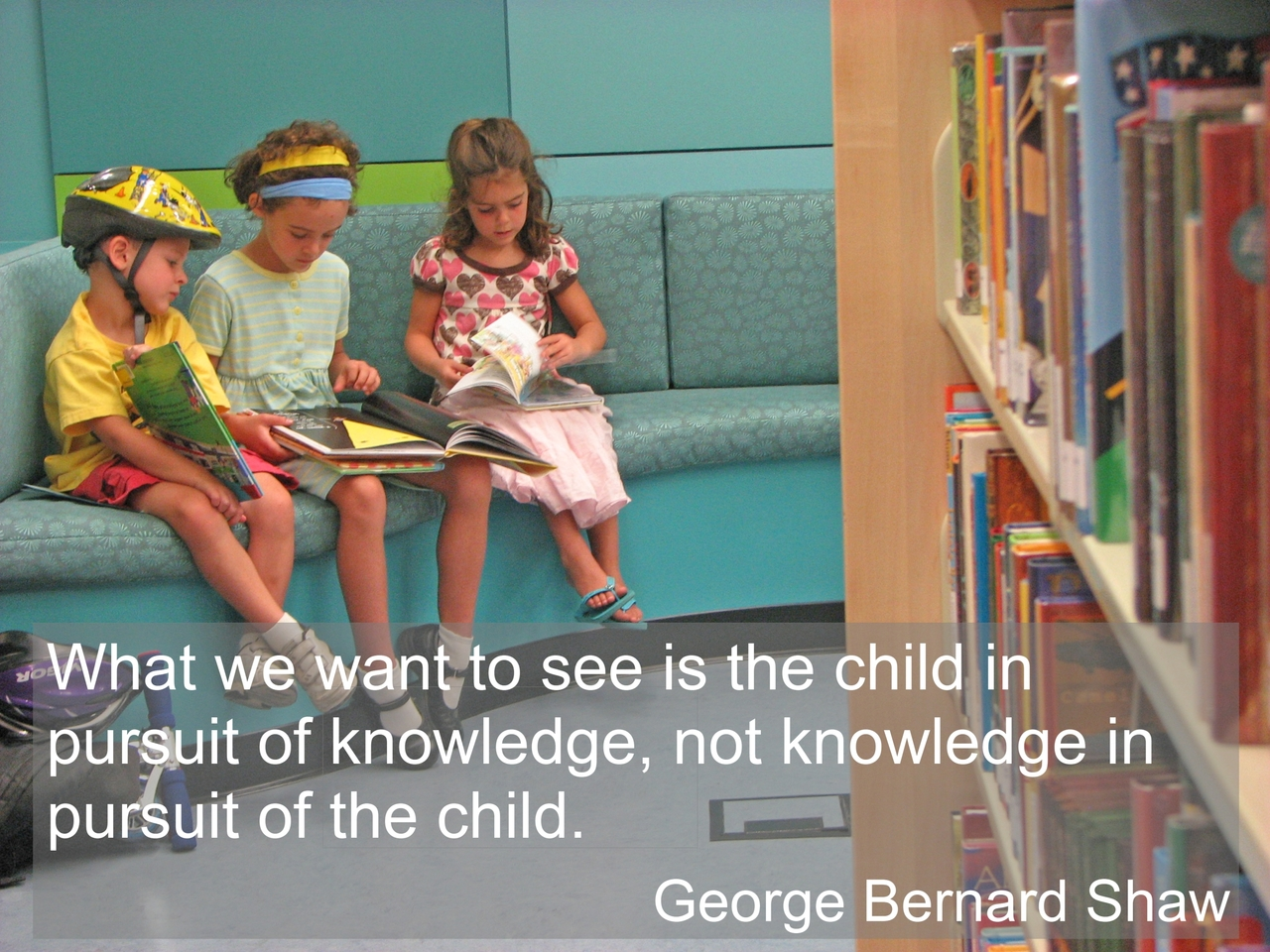 What we Want to see is the child in pursuit of knowledge ~ Education Quote