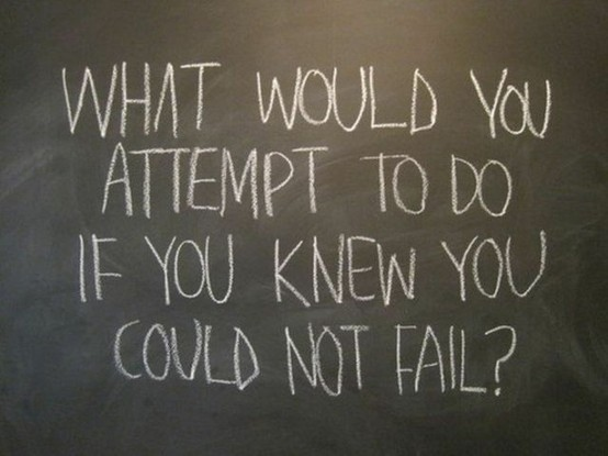 What Would You Attempt To Do If You Knew You Could Not Fail ! ~ Failure Quote