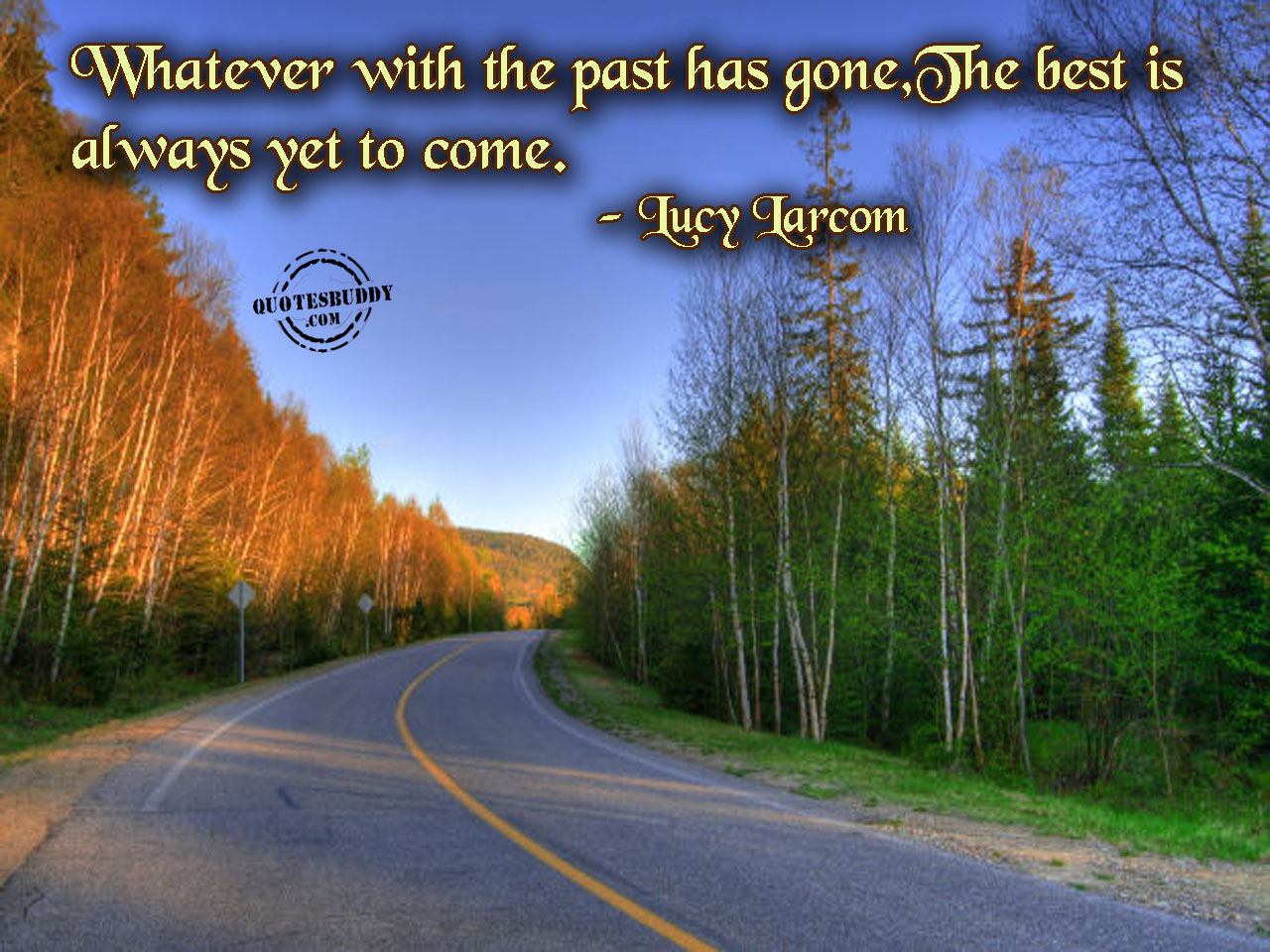 Whatever with the Past has gone,The Best Is always Yet to Come ~ Birthday Quote