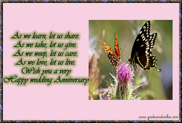 Wish You a Happy Wedding Anniversary