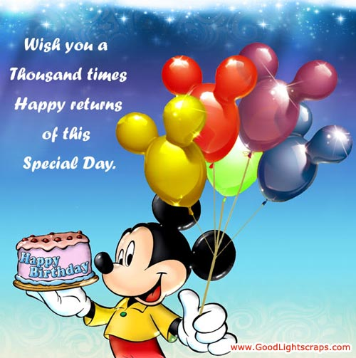Wish You a Thousand times Happy returns of this Special Day ~ Birthday Quote