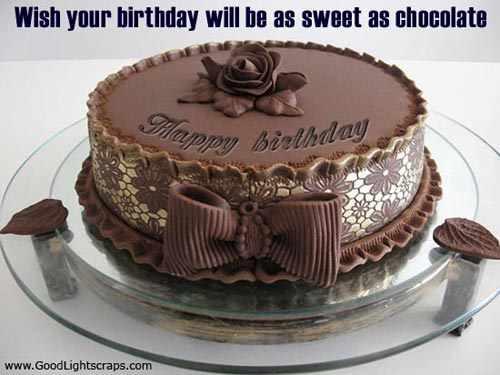 Wish Your Birthday Will be as Sweet as Chocolate ~ Birthday Quote