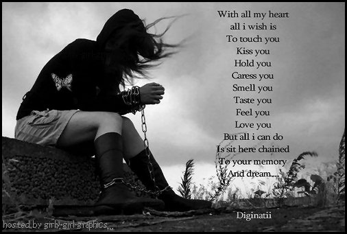 With all my Heart all i wish is to touch you ~ Break Up Quote