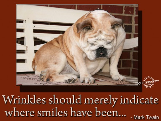 Wrinkles should merely indicate where smiles have been