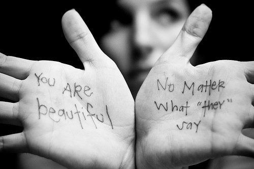 """You Are Beautiful No Matter What """"They"""" Say ~ Confidence Quote"""