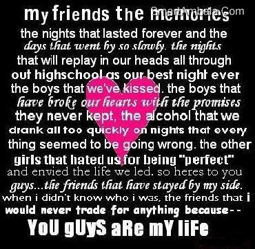 You Guys Are My Life Best Friend Quote Quotespictures Com