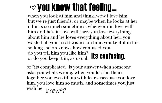 quotes: Love Quotes For Him You Know That Feeling