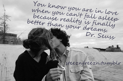 You Know You are inLove when you Can't fall asleep ~ Dreaming Quote