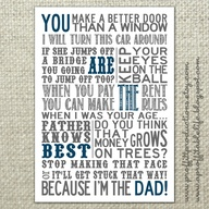 You Make a Better Door Than a Window ~ Father Quote